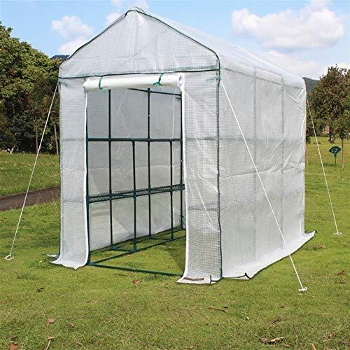 Plastico Invernadero Huerto Terraza Invierno Plantas Invernadero con Marco de Acero Resistente, Blanco Pequeño Casa Caliente para Patio Exterior Yard, Fácil Montaje (Size : 70×140×195CM)