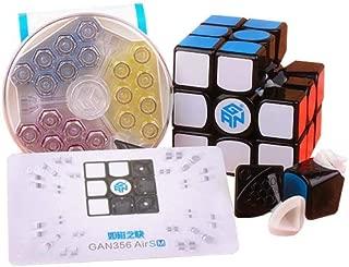 Gan 356 Air SM Speed Cube 3x3 Black Magnetic Puzzle Cube