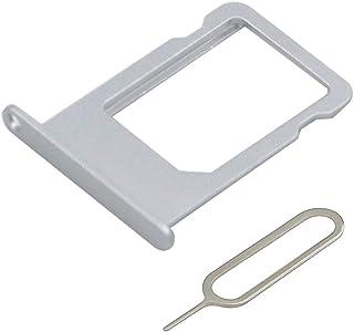 MMOBIEL Bandeja de Tarjeta SIM Ranura Compatible con iPhone 6 Plus 5.5 Pulg. (Plateado) Incl. sim Pin