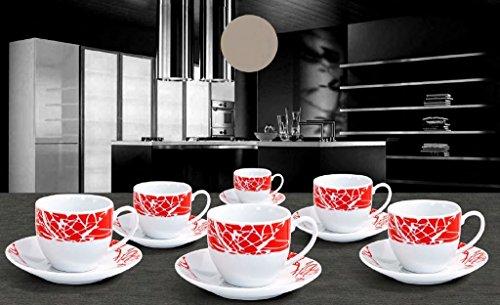 Albalù Italia Set TAZZINE Caffe' In Ceramica Colorate Servizio Completo Da 6 Pezzi Con PIATTINI Linea ADELMA