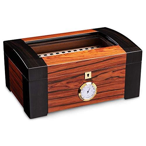 JIAJBG Caja de Humor de Cigarros de Cigarro Superior Cárcasa de Alenamiento de Madera Cedar Higrómetro Humidificador Fumar Accesorios de Cigarros Regalos Exquisito/A