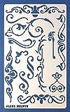 Aleks Melnyk #4 Stencil Plantilla de Metal para estarcir/Vintage, Flores/para Arte Manualidades y decoración/Plantilla para Estarcidos/para Pintar con Aerógrafo/1 Piezas/Bricolaje, DIY