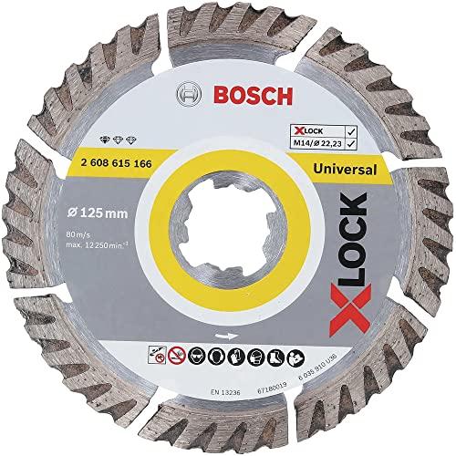 Bosch Professional Standard - Disco de corte de diamante (universal, X-LOCK, Ø125 mm, diámetro del orificio: 22,23 mm, anchura de corte de 2 mm)