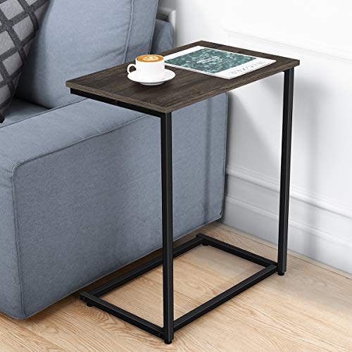 Homemaxs C Table Sofa Side End Table Small Side Tables for Eating Working and Writing in Living Room Bedroom Couch amp Small Spaces