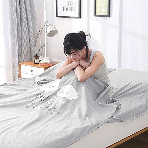 YUEBAOBEI Schlafsack Hotel Silk Soft Schlafsack Liner - Leichte Travel Sheet Camping Schlafsack Verhindern, DASS Schmutzig Auf Business Hotel,86.61 * 63