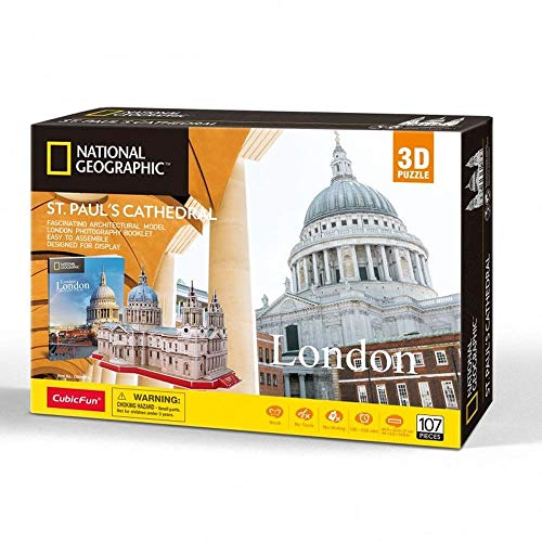 University Games 7665 National Geographic St Pauls 3D Puzzle, Multicolored