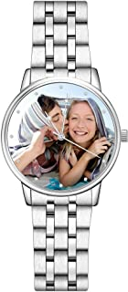 SOUFEEL Custom Photo Watch for Men Personalized Engraved Customized Gift Watches Stainless Steel