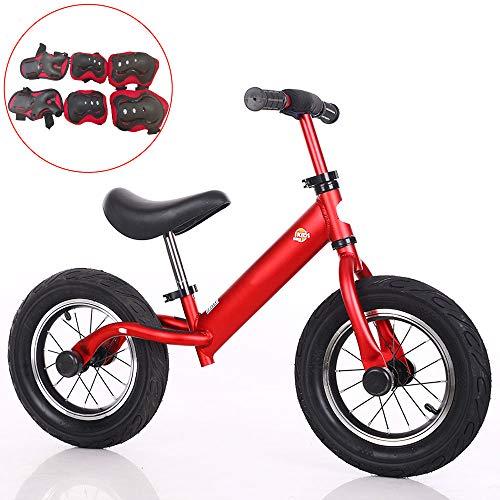 Bicicleta de Equilibrio para Niños, Bicicleta sin Pedal para Niños Pequeños con marco de Aleación de Aluminio, Manillar y Asiento Ajustables, Bicicleta para Niños Pequeños para Niños de 3 a 6 Años