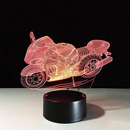 Yujzpl 3D-Illusionslampe LED-Nachtlicht, USB-betrieben 7 Farben blinkend Touch-Schalter Schlafzimmer Dekoration für Kinder Weihnachtsgeschenk[Energieklasse A +++]-Roller