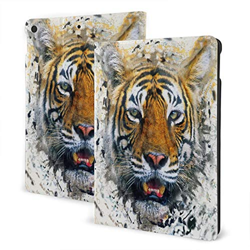 Collage tiger IPad 7th 10.2' Slim Lightweight Smart Shell Stand Cover Case for iPad 7 (10.2-Inch, 7th Generation,Auto Wake/Sleep)