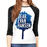 MeiShop Camiseta de Manga 3/4 para Mujer Women Long Sleeve T-Shirt, Dear Evan Hansen Round Neck T Shirt Baseball Tunic Tops Blouse