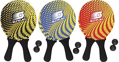 Sunflex 74600 - Juego de 2 Raquetas de Playa (Neopreno), Colores Surtidos