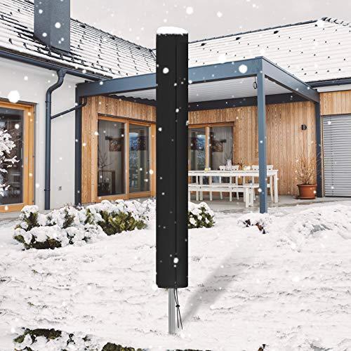 Essort - Funda para tendedero rotativa, diseño de líneas rotativas, con cordón de cremallera, 420D, duradero, resistente a los rayos UV, resistente a la decoloración, 165 x 16 x 16 cm