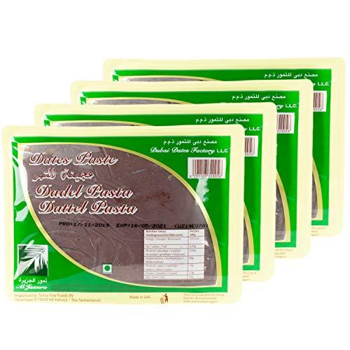 Al Jazeera - Typisch Orientalische Dattel Paste - Dattelpaste hergestellt aus 100 % Datteln ideal zum Kochen und Backen im 4er Set á 900 g Packung