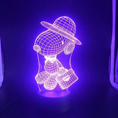 3D Lampe Snoopy Animation Beste Geschenk Kinder Wohnzimmer Dekoration Helle Basis Senor USB LED Nachtlicht Lampe