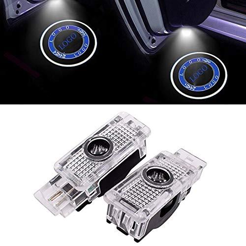 YYTR Puerta de Coche LED Luz de Bienvenida Compatible con Mercedes Benz AMG W203 C Clase 2001-2007 SLK CLK SLR R171 W209 W240 Lámpara de proyector de Logotipo de automóvil