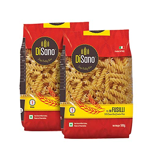 DiSano Durum Wheat Pasta, Fusilli, 1 kg (2 x 500g)