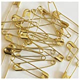 """SAFETY PINS Size 3 (2"""") GOLD TONE BULK PK/100 Made in USA"""