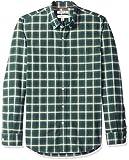 Marca Amazon – Goodthreads – Camisa Oxford de manga larga a cuadros de corte entallado para hombre, Multicolor (Green Navy Tartan), US M (EU M)