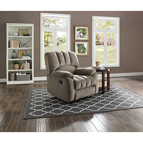 """Mainstays Recliner with Pocketed Comfort Coils, Dimensions: 34"""" W x 37.5"""" D x 40"""" H (Grey) (Grey)"""