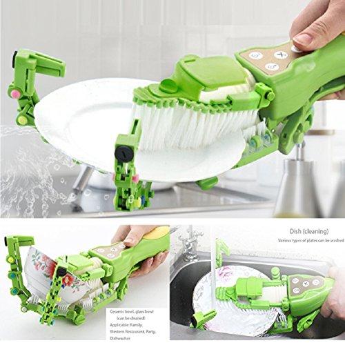 Dishwasher, Handheld Automatic Dish Brush Scrubber Antibacterial