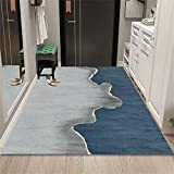 alfombras habitacion Bebe Azul Moderno Minimalista Sala de Estar Alfombra Azul Alfombra Duradera Lavable Suelo Exterior terraza 180x300cm Alfombra habitación Matrimonio 5ft 10.9''X9ft 10.1''