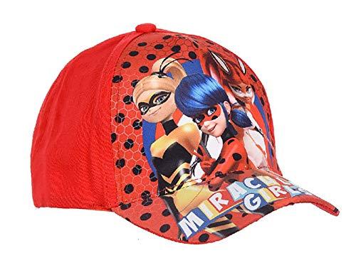 Miraculous Ladybug - Gorra para niña, color rojo