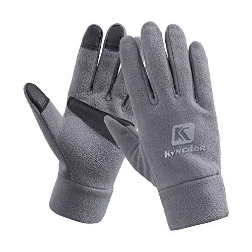 Unisexe Hommes et Femmes Mode Hiver Gants Chauds Polaire Coupe-Vent Slip Gants de Sport en Plein Air Gants D'équitation Écran Tactile - Gris, XL, A1