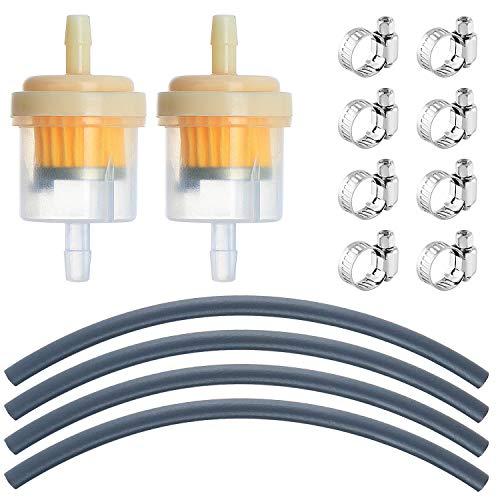 WiMas Standard Benzinschlauch-Kit, Benzin Kraftstofffiltersatz, Ölfiltersatz Vakuumröhre, 4PCS Durchmesser 5mm Kraftstoffleitung + 2PCS 5.6mm Benzinfilter + 8PCS Schlauchschellen