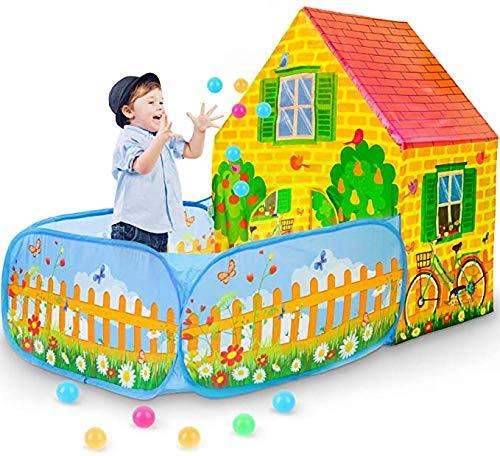 Kids Tent Children's Toy House Jongens Meisjes Indoor Peuter Play Tent Buiten Spelen Portable Vouwkoffers Lightweight Asy Te Installeren Gift Voor Verjaardag Kerstmis