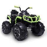LYDIANZI Coche para Niños De Doble Accionamiento LZ-906 ATV Actualizado con Batería De 45W * 12 12V7AH * 1 Sin Control Remoto Negro Y Verde