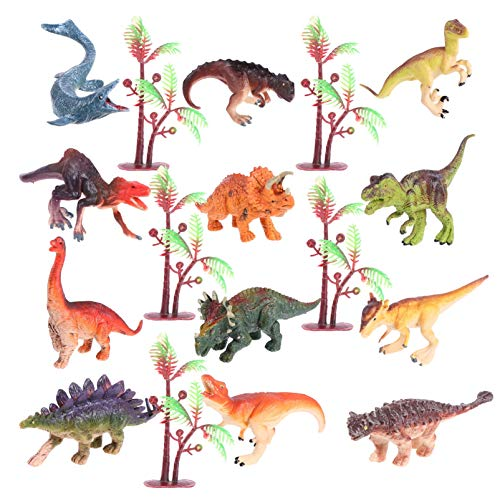 TOYANDONA Dinosaurio Modelo de Juguete Realista Conjunto de Figuras de Animales Cake Topper Niños Juguetes Educativos Decoración de Jardín de Hadas en Miniatura para Niños Suministros para