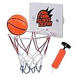 Canasta de baloncesto de pared para niños, plástico ABS, con baloncesto e instalar la ventosa interior para ocio, deporte, baloncesto
