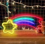 XHDH Segno al Neon, Il Segno LED Meteor è Usato per la Decorazione della Parete al Neon della Camera da Letto e della Camera dei Bambini, Lo Stile al Neon del, Un Regalo per adolescenziale