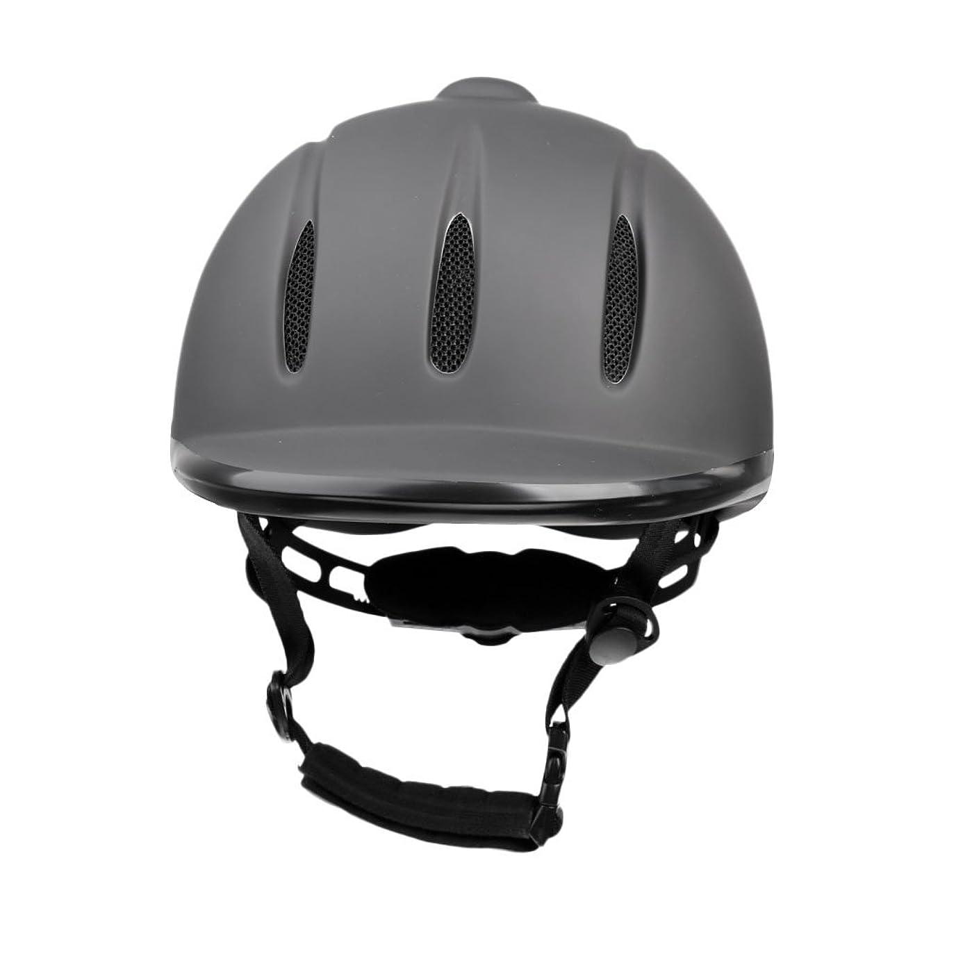 子猫線形承知しましたSunniMix 乗馬用ヘルメット 安全 馬具 軽量 通気性抜群 便利 調節可能 快適 ブラック 全4サイズ