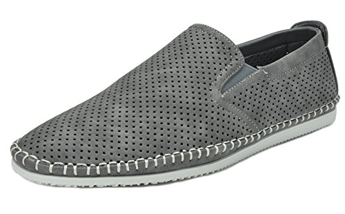 Bruno Marc SLEEKER Men's Classy On The Go Driving Casual Loafers Boat Moccasins Shoes GREY SIZE 12