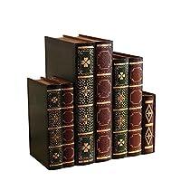 木の宝石箱、7つの別々の収納箱、寝室に適したシミュレーション本の収納箱、研究など。