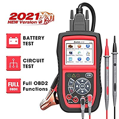 Autel AL539B OBD2 Scanner 3-in-1 Code Reader Battery Tester Avometer for 12 Volts Batteries, Full OBDII Diagnosis and Circuit Starting & Charging Systems Test from Autel