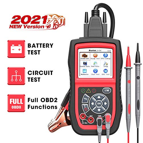 Autel AL539B OBD2 Scanner 3-in-1 Code Reader Battery Tester Avometer for 12 Volts Batteries, Full OBDII Diagnosis and Circuit Starting & Charging Systems Test