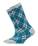 BURLINGTON Damen Socken Ladywell Rhomb - Baumwollmischung, 1 Paar, Blau (Ice Flow 6658), Größe: 36-41