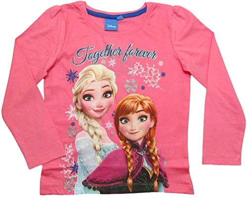 Frozen Langarmshirt Mädchen Anna und ELSA (Rosa, 104/110)