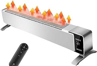 GXDHOME Calentador de zócalo Zócalo Eléctrico Convectores Radiador de Calefacción Doméstica Termostato Inteligente Remoto Calentador Rápido Silenciosa Ahorro de Energía Calentadores convectores