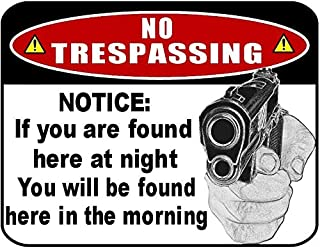 Top Shelf Novelties No Trespassing Notice: If You are Found Here at Night Laminated Funny Sign sp47