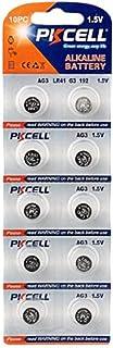 (10) BUTTON CELL BATTERIES: 1.5V - AG3 - LR41 - G3 - 192