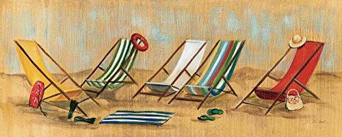Feeling at home IMPRESION-sur-Papier-Vita-è-Facile-II-sedie-Vassileva-Silvia-Côtier-Affiche-roulée-Fine-Art- pour-cadre-Poster-pour-décoration-murale-dimensions-38_X_96_cm