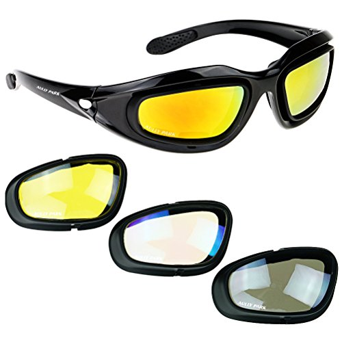 AULLY PARK Polarized Motorcycle Riding Glasses...