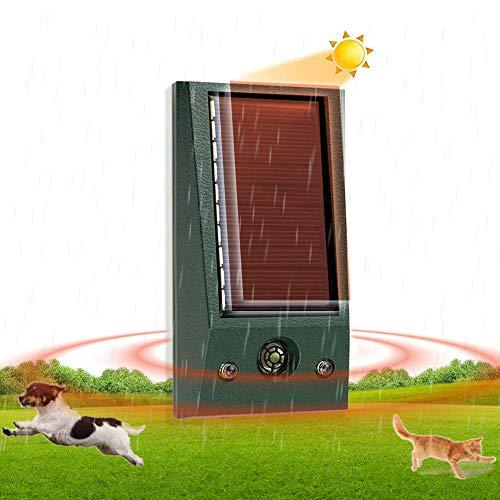 Repellente Gatti, Mini Ultrasuoni Gatti Solar Animale Repeller Impermeabile per Allontanare Animali, Topi, Cani, Gatti, Uccelli
