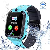 Smart Watch for Kids GPS Tracker - IP67 Waterproof Smartwatches with SOS Voice Chat Camera Alarm...
