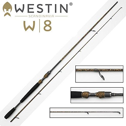 Westin W8 Powershad 240cm MH 15-40g Spinnrute, Angelrute zum Spinnfischen, Ruten für Barsche, Hecht, Zander & Forellen, 2-teilige Steckrute