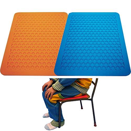 ゴムQ Qチェアマット 学校椅子適合サイズ ブルー